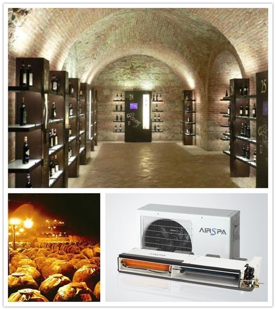 在私人别墅酒窖设计中,酒窖空调及新风系统的应用
